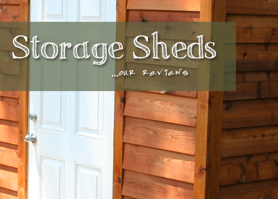 Small Wooden Storage Shed With Text Overlay.
